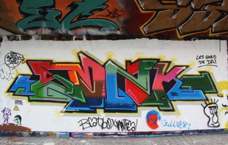 Smyk One graffiti at the Charlevoix legal graffiti wall