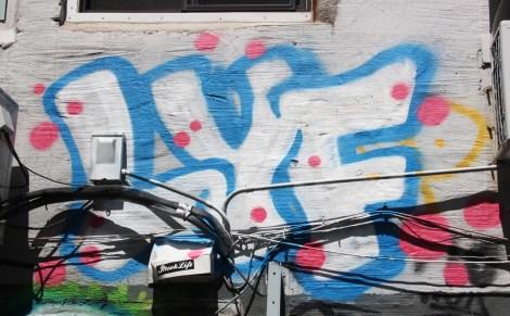 Lyfer Kwun graffiti between HoMa and Mercier