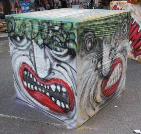IAmBatman installation for the 2015 edition of Mural Festival
