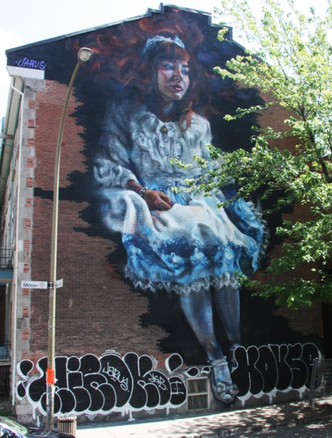 Jarus's contribution to the 2015 edition of Mural Festival