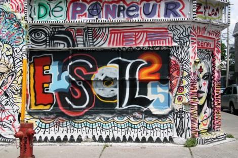 Elsol25 over Zilon house from Mural Festival 2014
