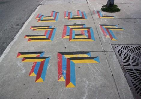 Mathieu Connery piece on St-Laurent sidewalk