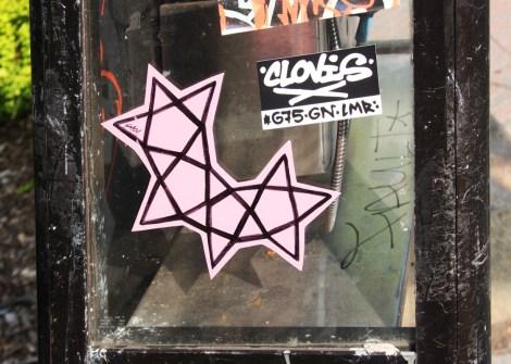 paste-up by Swarm (stars) and sticker by Clovis