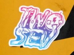 Two Sev sticker