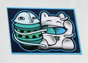 collaboration sticker between Waxhead and El Moot Moot