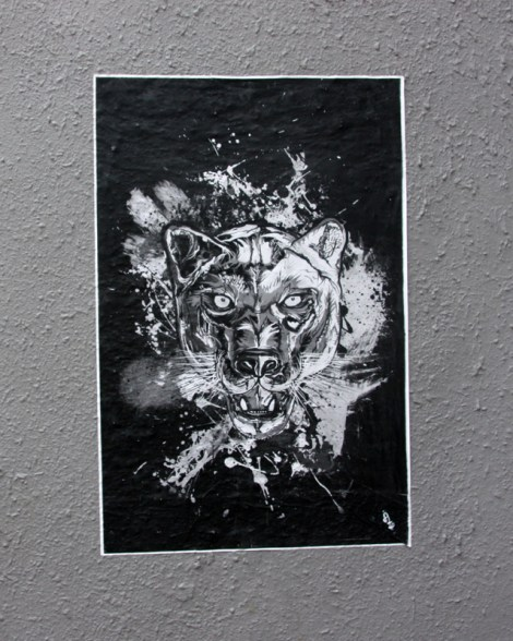 pasted poster by unidentified artist