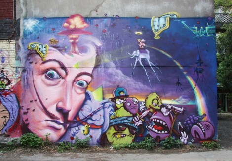 K6A mural featuring Axe and Monk.e
