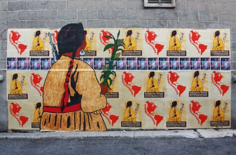 Melanie Cervantes, Lianne Charlie, Lindsay Katsitsakatste for Decolonizing Street Art 2015