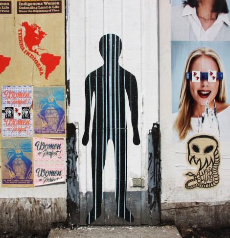 Swarm wheatpaste for Decolonizing Street Art