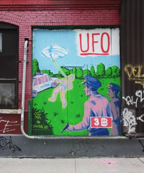 Zoltan mural for VHS - Van Horne Station event