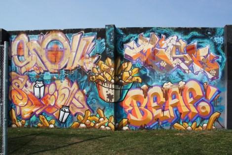 Mask, Skim, Beaf at the 2015 Lachine graffiti jam