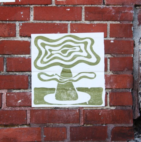 paste-up by unidentified artist