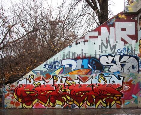 Reces at the Rouen legal graffiti tunnel