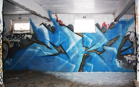 EK7 piece in an abandoned building