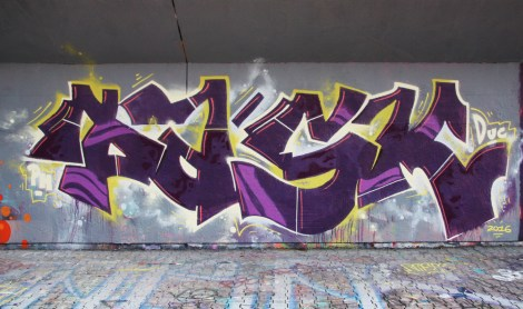Pask at the PSC legal graffiti wall