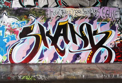 Skank at the Rouen legal graffiti wall