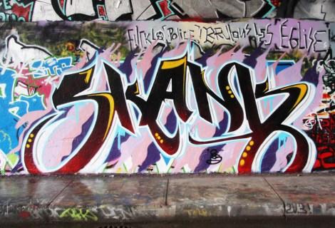 Skank at the Rouen legal graffiti wall