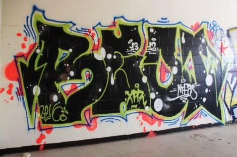 Beo graffiti piece found in urbex