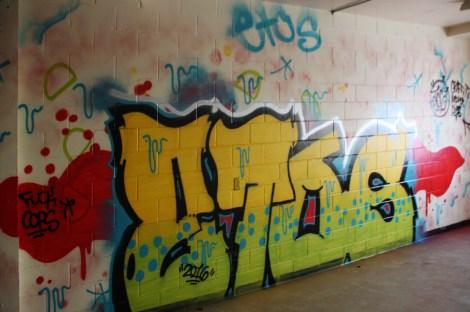 Etos graffiti piece found in urbex