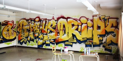 Gnius/Drips graffiti pieces found in urbex