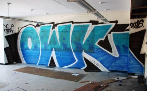 Owk graffiti piece found in urbex