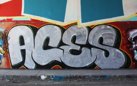 Aces at the Rouen legal graffiti tunnel