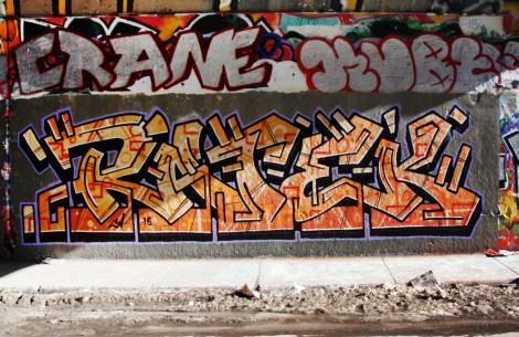 Ratek at the Rouen legal graffiti tunnel