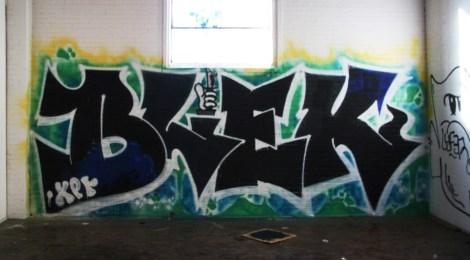 Blek on the abandoned Transco's 2nd floor