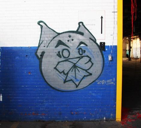 Phantom Cat in the abandoned Transco's blue room