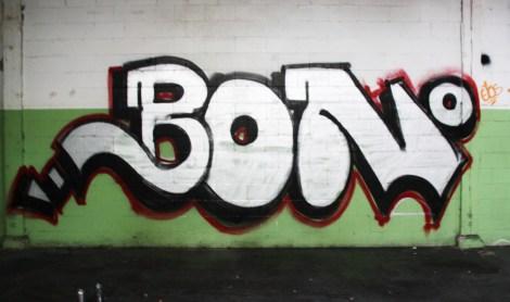 Bono in the abandoned Transco's green room