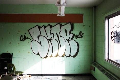 Skor throw in an abandoned school