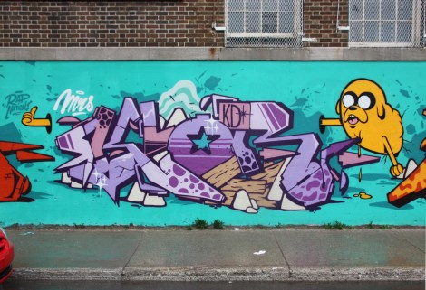 123Klan's Klor (letters) and Slick (character) in Plateau End
