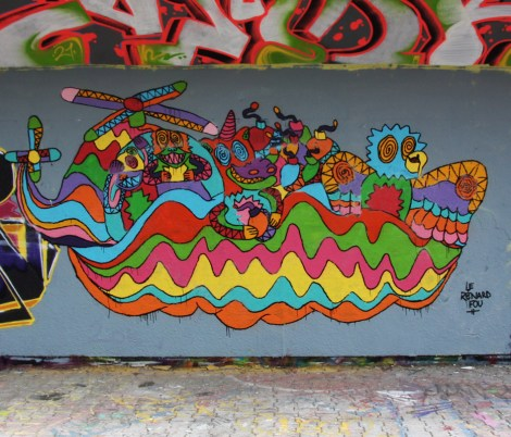 Le Renard Fou at the PSC legal graffiti wall