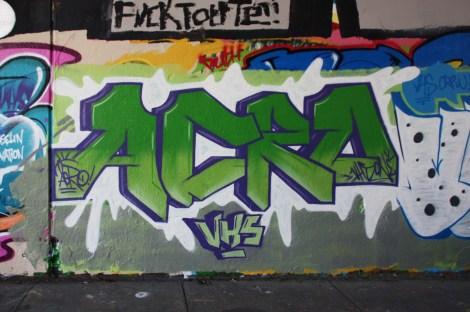 Acro at the Rouen legal graffiti tunnel