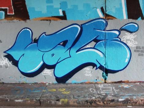 Salé at the Rouen legal graffiti tunnel