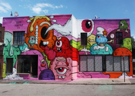 Buff Monster for the 2016 edition of Mural Festival