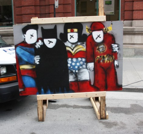 """IAmBatman on """"your face here"""" board for the 2016 edition of Mural Festival"""