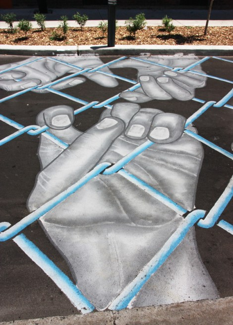 Roadsworth for the 2016 edition of Mural Festival (detail)