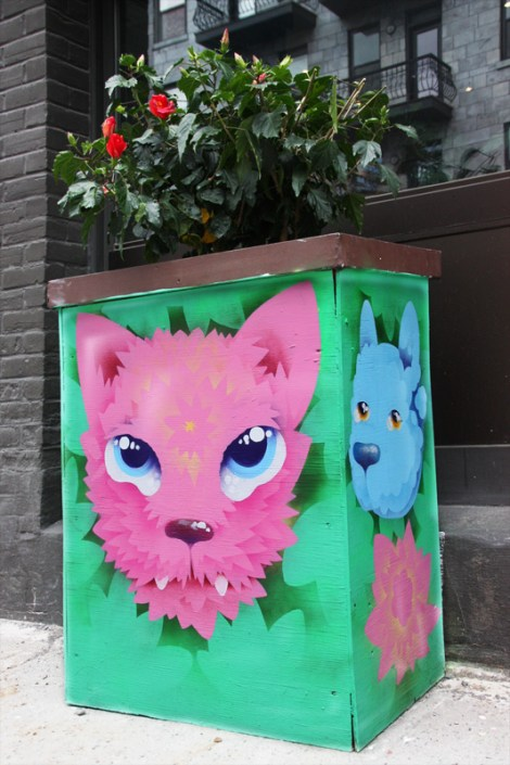 Cryote on Amherst flowerpot for the 2016 edition of the MTL En Arts festival