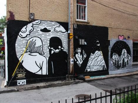 Germdee mural in Plateau End