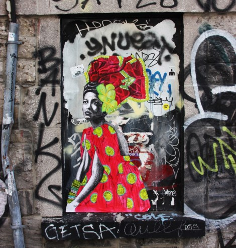 Miss Me wheatpaste in the Mural Festival zone