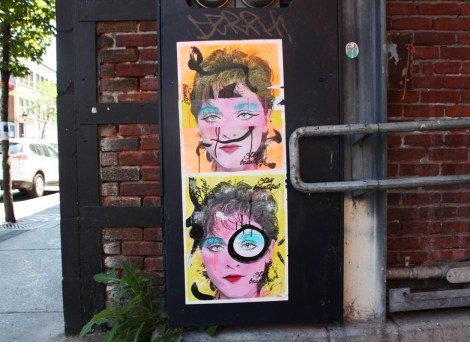 pasted posters by Stay Beautiful