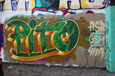 Pito at the Rouen legal graffiti tunnel