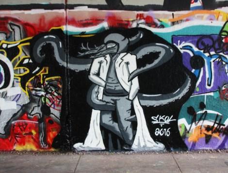 Skol at the Rouen legal graffiti wall