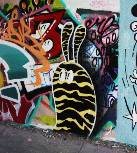 Starkeyat the Rouen legal graffiti wall