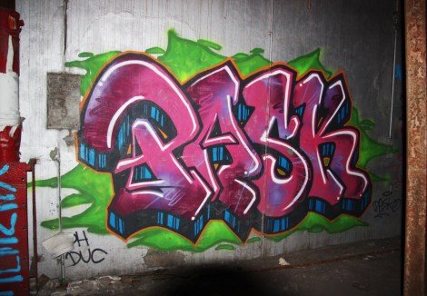 Pask in an abandoned building