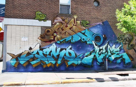 Zek, Axe, Awe and Dodo Osé in St-Henri