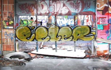 "Ecler inside the abandoned ""Jailspot"""