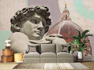Wallab Florence wallpaper customizable. Wallab Florence carta da Parati realizzabile su misura.
