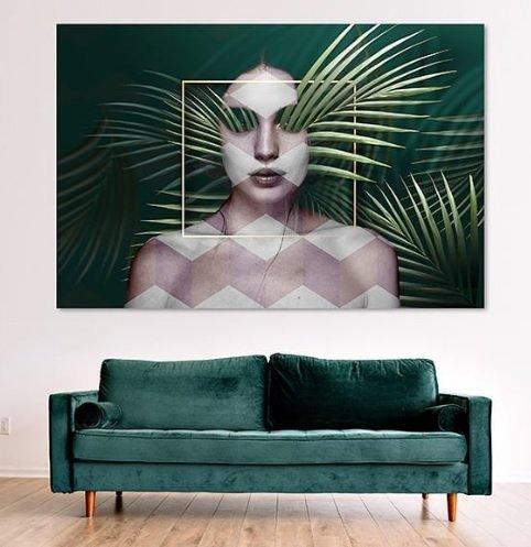 Palm Face Canvas